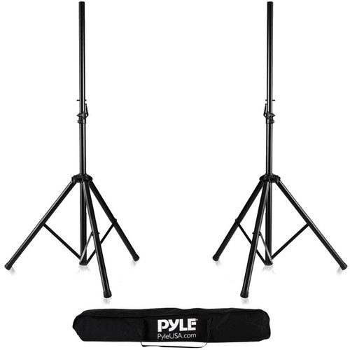 Pyle Pro Height-Adjustable Tripod Speaker Stands Kit (Pair) and Travel Bag