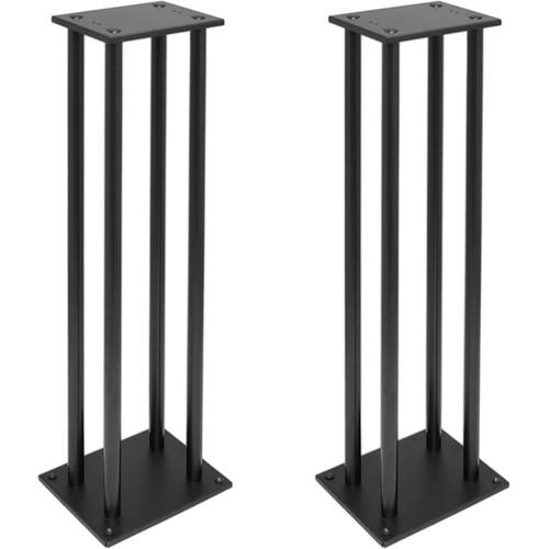 Pyle Pro PSTND14 Heavy-Duty Steel Bookshelf/Monitor Speaker Stand (Black, Pair)