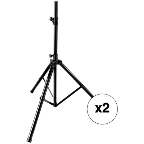 Pyle Pro PSTND25 Kit with 2 Height-Adjustable Speaker Stands