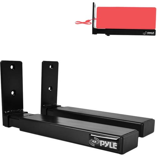 Pyle Pro PSTNDW17 Center Speaker/Soundbar Bracket Stands with Universal Wall Mount (Pair)