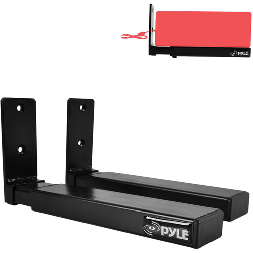 Pyle Pro PSTNDW17 Center Speaker/Soundbar Bracket Stands with Universal Wall Mount (Pair)