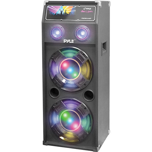 Pyle Pro PSUFM1040P Disco Jam 1,000W 2-Way Speaker System with DJ Lights