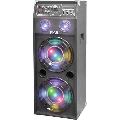 Pyle Pro PSUFM1045A Disco Jam 1,000W 2-Way Speaker System with DJ Lights