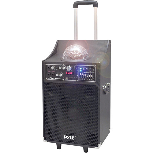 "Pyle Pro PSUFM1049A 10"" 2-Way 600 Watt Powered Disco Jam Speaker"