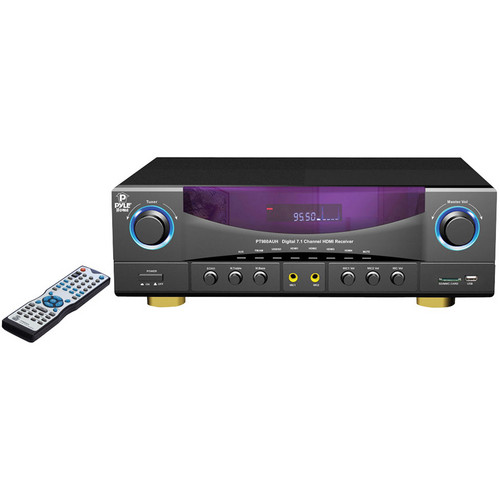 Pyle Pro PT980AUH 7.1-Ch Amplifier Receiver with Built-In Radio
