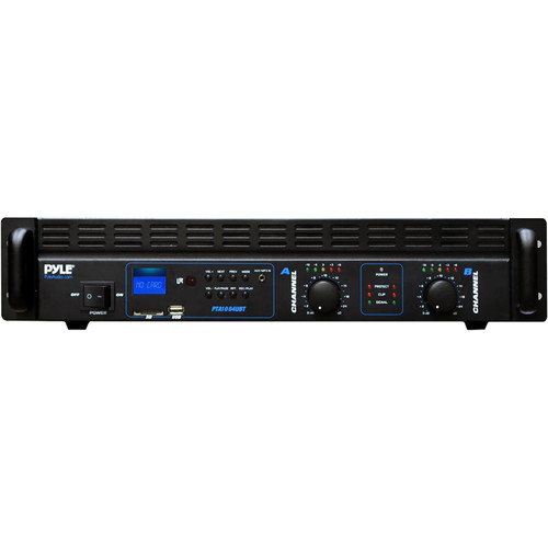 Pyle Pro Bridgeable Power Amplifier with Built-in Bluetooth Technology