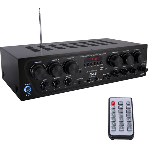Pyle Pro PTA62BT 6-Zone Stereo Receiver with Bluetooth