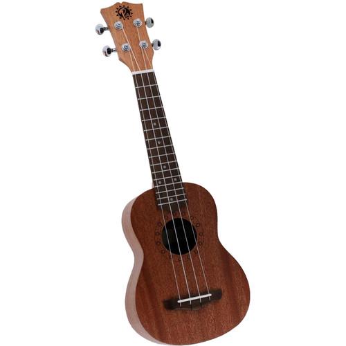 Pyle Pro Traditional 4-String Soprano Ukulele (Mahogany)