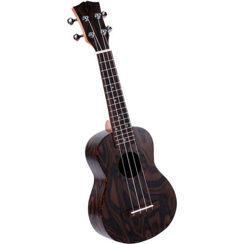 Pyle Pro Traditional 4-String Soprano Ukulele (Flamed Laminated Wood)