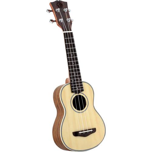 Pyle Pro Traditional 4-String Soprano Ukulele (Spruce/Walnut)