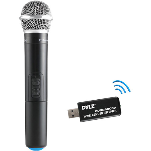Pyle Pro Wireless Microphone and USB Receiver System (UHF: 600 to 960 MHz)