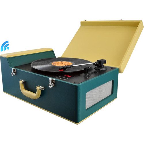 Pyle Pro PVTT15UBT Vintage Belt-Drive Turntable with Bluetooth and USB