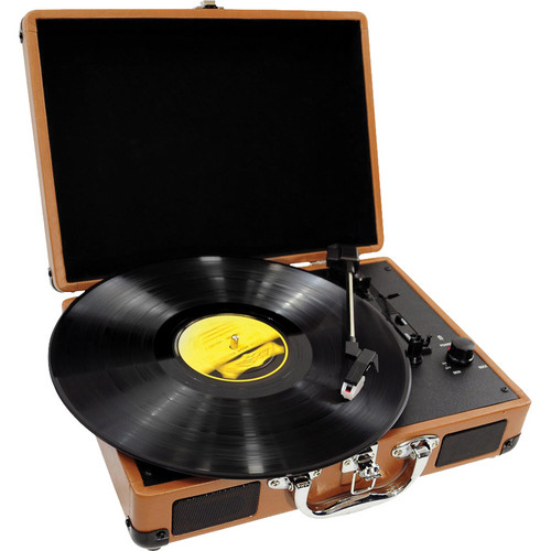 Pyle Pro PVTT2U Retro Belt-Drive Briefcase-Style Turntable