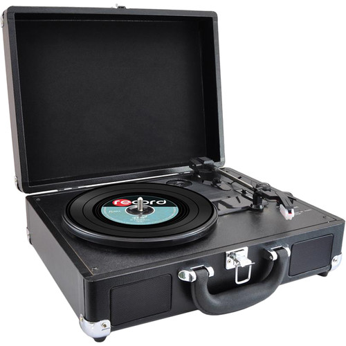 Pyle Pro PVTTBT6BK Portable Turntable with Bluetooth and USB (Black)