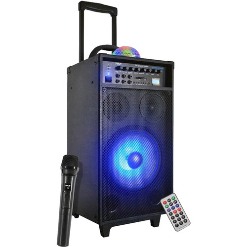 Pyle Pro Portable Bluetooth PA Speaker System with DJ Lights