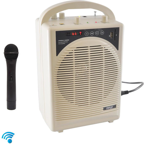 Pyle Pro Portable 60W Rechargeable PA Speaker with Bluetooth and Wireless Microphone