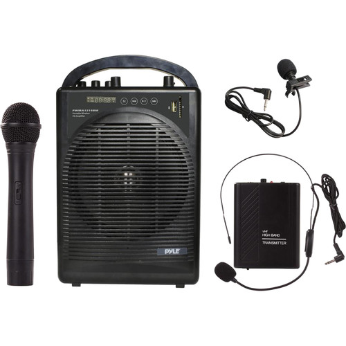 Pyle Pro 60W Portable Bluetooth PA Speaker with Wireless Microphone System & Rechargeable Battery