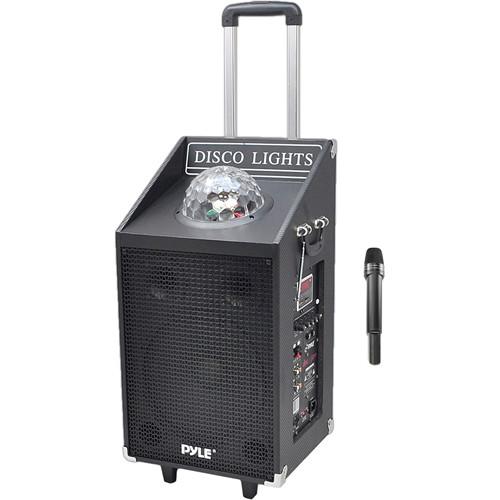 Pyle Pro Disc Jam 600-Watt Portable PA Speaker System with Disco Lights