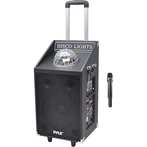 Pyle Pro Disc Jam 600-Watt Portable PA Speaker System with Disco Lights