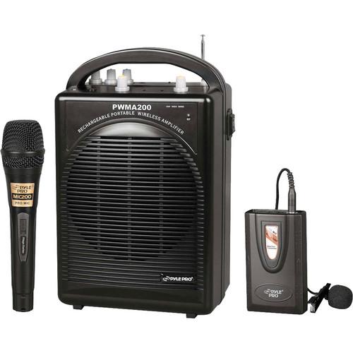 Pyle Pro PWMA200 Wireless Rechargeable Portable Amplifier (Black)
