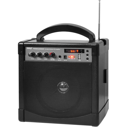 Pyle Pro 60W Portable Bluetooth Karaoke PA Speaker Amplifier and Microphone System