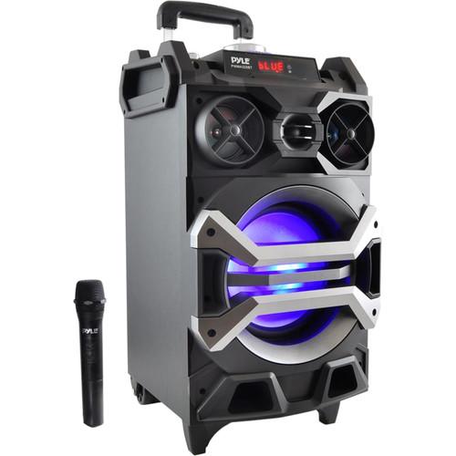 "Pyle Pro Portable Bluetooth Karaoke Speaker System (8.0"")"