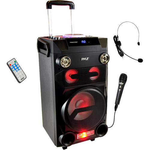 Pyle Pro Portable Bluetooth Karaoke and Music Streaming Speaker System