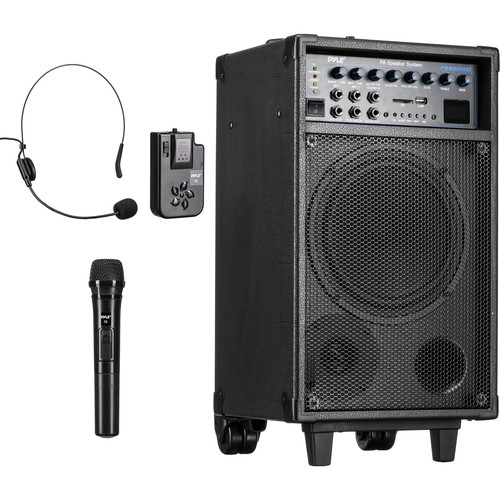 Pyle Pro PWMA890UI 500W Dual-Channel Wireless Portable PA System