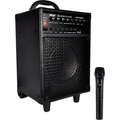 Pyle Pro 600W Rechargeable Bluetooth PA System with Wireless Microphone