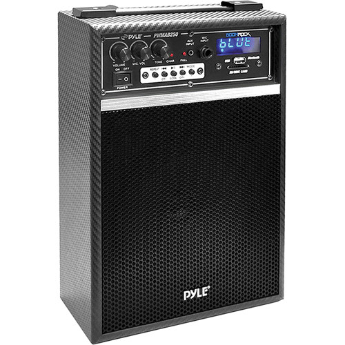 "Pyle Pro PWMAB250BK 6.5"" 300 Watt Powered Portable PA Speaker (Black)"