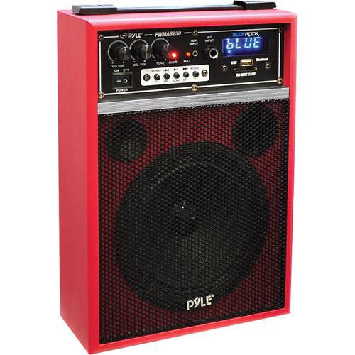 "Pyle Pro PWMAB250RD 6.5"" 300 Watt Powered Portable PA Speaker (Red)"