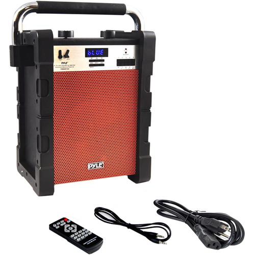 "Pyle Pro Jobsite Boombox - 100 Watt 8"" Bluetooth Portable Speaker System (Orange)"