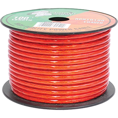 Pyramid 10 Gauge Red Power Wire (100')