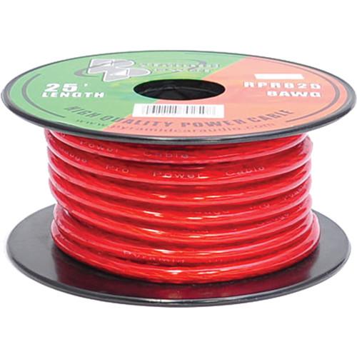 Pyramid 8 Gauge Red Power Wire (25')