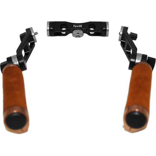 Pyro AV Leather Grip Handles with 360 Degree Rotation for 15mm Systems