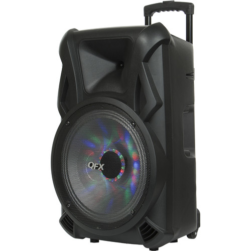 "QFX 15"" Moon Light Bluetooth-Compatible Portable Party Speaker"