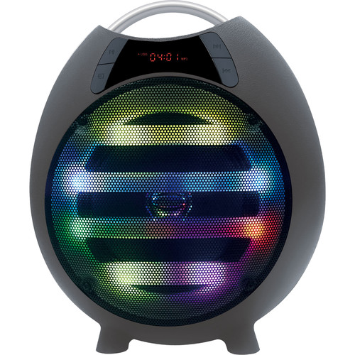 "QFX PBX-2100 6.5"" Rechargeable Battery-Powered Portable Party Speaker with Bluetooth/USB/SD/FM (Black)"