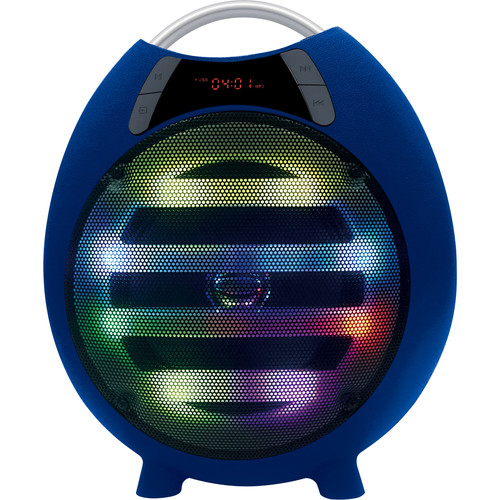 "QFX PBX-2100 6.5"" Rechargeable Battery-Powered Portable Party Speaker with Bluetooth/USB/SD/FM (Blue)"