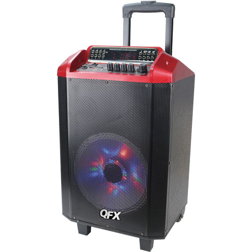 "QFX 10"" Bluetooth Portable Party Speaker System (Red)"