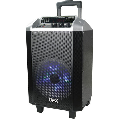 "QFX 10"" Bluetooth Portable Party Speaker System (Silver)"