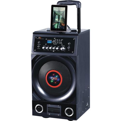 "QFX PBX-3010BT 10"" Portable Battery Powered PA Speaker USB/SD/FM/Bluetooth"