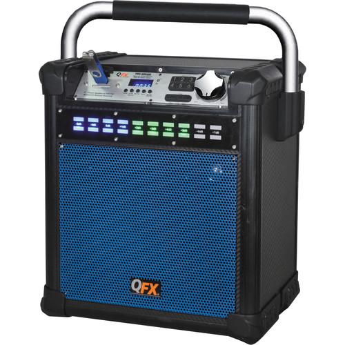 """QFX 8"""" Weather-Resistant Portable Party AM/FM Speaker (Blue)"""