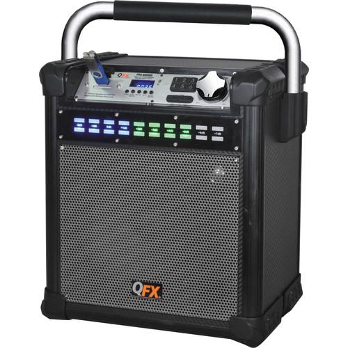 "QFX 8"" Weather-Resistant Portable Party AM/FM Speaker (Gray)"