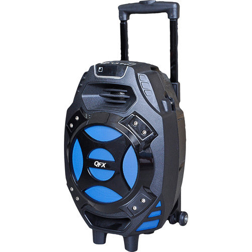 "QFX PBX-61081BT 8"" Portable Tailgate Battery-Powered Party Speaker with USB/SD/FM/Bluetooth (Blue)"