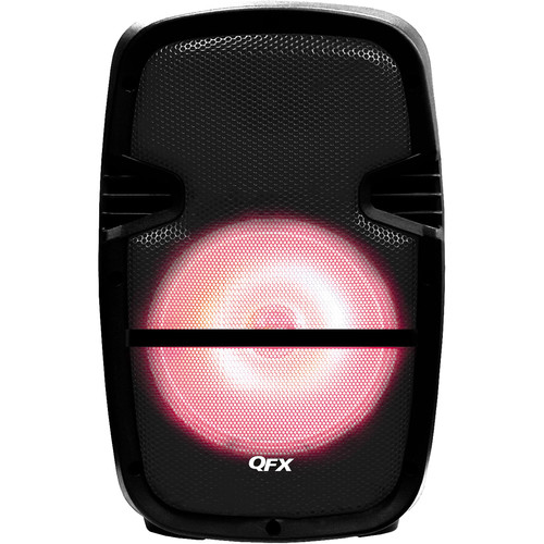 "QFX 8"" Battery-Powered Bluetooth Portable Party Speaker (Black)"