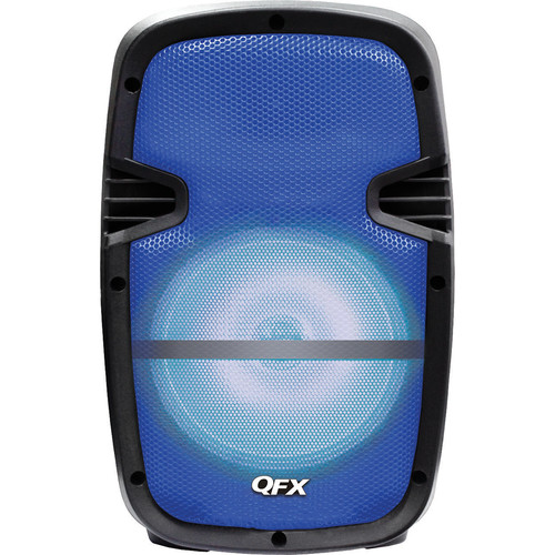 "QFX 8"" Battery-Powered Bluetooth Portable Party Speaker (Blue)"