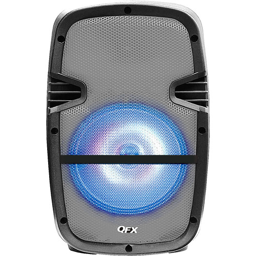 """QFX 8"""" Battery-Powered Bluetooth Portable Party Speaker (Grey)"""