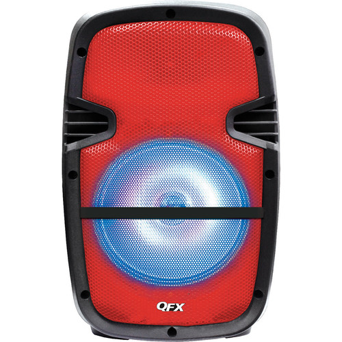 "QFX 8"" Battery-Powered Bluetooth Portable Party Speaker (Red)"