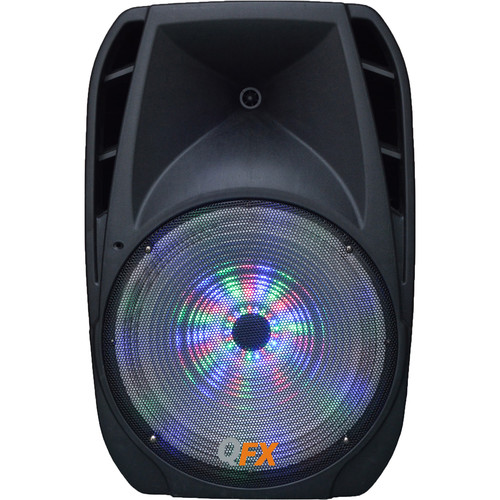 "QFX PBX-61150 15"" Portable Battery-Powered Bluetooth Party Speaker (Black)"