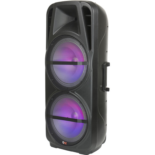 "QFX PBX-621501 15"" Battery-Powered Portable Bluetooth Party Speaker (Black)"